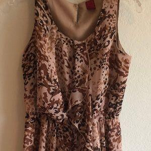 Animal Print Dress - Sleeveless